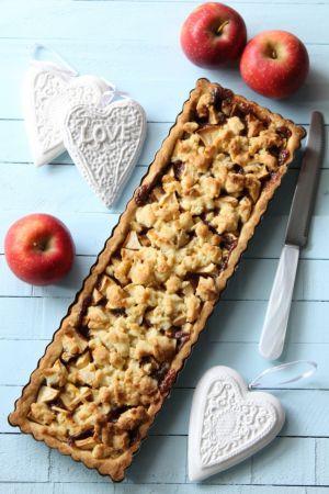 Recette Tarte Crumble Pommes Chocolat et Caramel