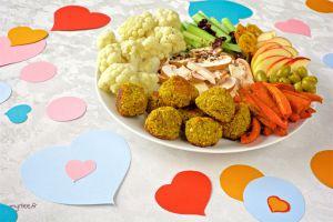 Recette Assiette de St Valentin (vegan)