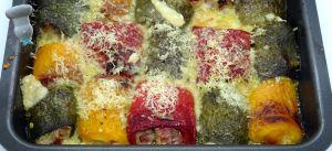 Recette Paupiettes de poivrons au parmesan