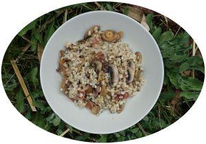 Recette Poêlée d'orge, champignons & jambon fumé - IG Bas