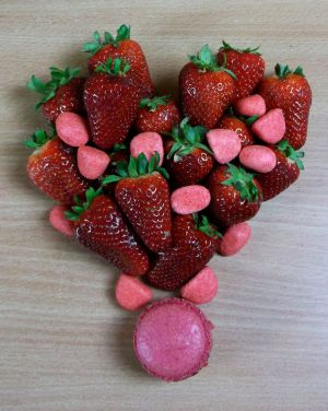 Recette Macaron fraise Tagada et fraise fruit