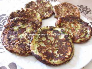 Recette Pan cakes de courgettes