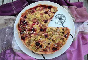 Recette Tarte rhubarbe et framboise au sucre perlé