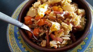 Recette Cocotte légumes d'hiver-riz-bacon