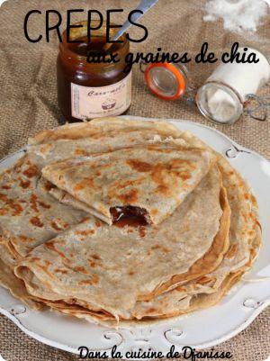 Recette Crêpes au yaourt et graines  de chia