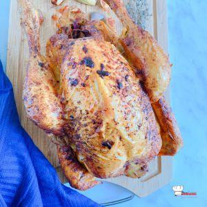 Recette Simple comme un poulet fermier cuit au four