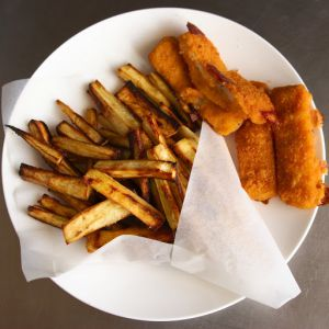 Recette Fish & chips… de panais / Fish & parsnip chips