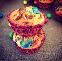 Recette Muffins m&m's et pâte à tartiner