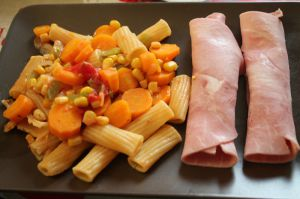 Recette Pâtes aux legumes ensoleillé au cookeo