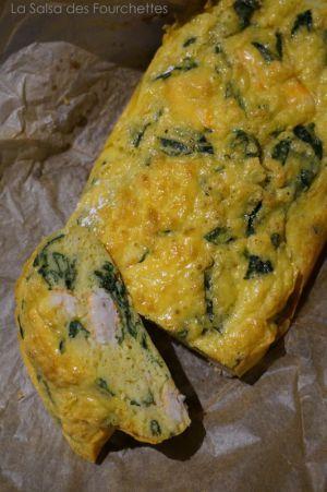Recette CAKE Aux Crevettes et Aux Epinards