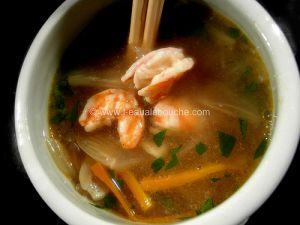 Recette Soupe aux Crevettes
