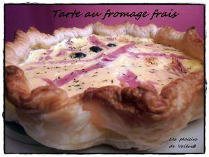 Recette Tarte au fromage frais