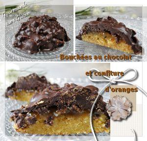 Recette Bouchées au chocolat et confiture d'orange