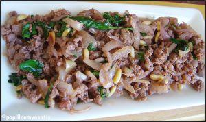 Recette Boeuf, coriandre et pignons [#viande #food #boeuf]