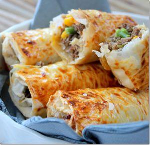 Recette Chaussons de viande hachée aux légumes