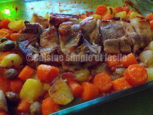Recette Rouelle de porc au four et ses petits légumes