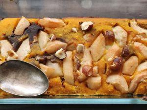 Recette CAKE MARBRE Potimarron Chocolat et Poires