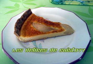 Recette Tarte poire feves de tonka