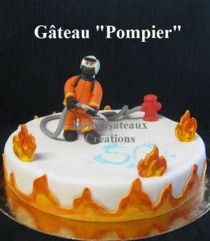 """Recette Gâteau """"Pompier"""" en Pâte à Sucre"""