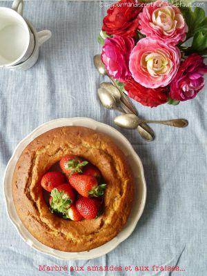 Recette Cake marbré aux amandes et aux fraises
