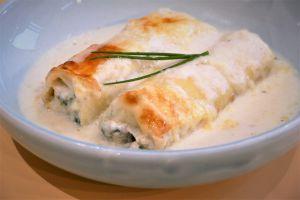 Recette Cannellonis au poulet en sauce crémeuse