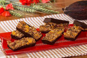 Recette Barres de céréales au muesli et  chocolat