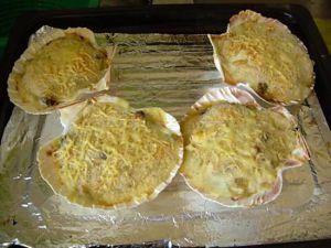 Recette Coquille de st jacques à base de crevette et  de moules