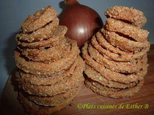 Recette Rondelles d'oignons frits au four
