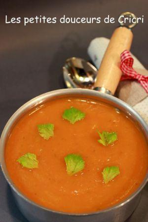 Recette Soupe de Citrouille tomates à la citronnelle