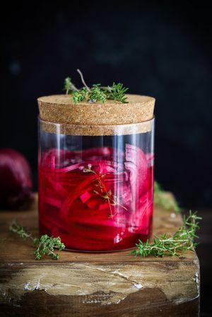 Recette Pickles d'oignons rouges