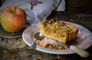 Recette Tarte aux pommes façon crumble aux noix
