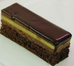 Recette Entremets chocolat crémeux pistache