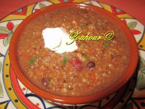 Recette Chili casserole aux boeufs hachées et haricots noirs