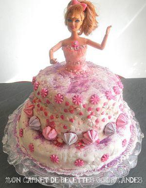 Recette Gâteau de barbie en PÂTE à sucre + photos