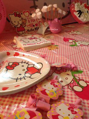 Recette ♥ Gateau anniversaire Hello Kitty et Kitty en chamallow ♥
