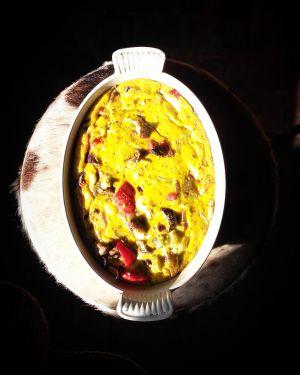 Recette Tian de légumes aux œufs et au curry