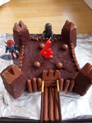 Recette Gâteau d'anniversaire Château fort