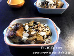 Recette Sauté de porc aux épices et pruneaux