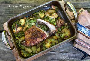 Recette Carré d'agneau aux fèves et pommes de terre nouvelles