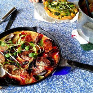 Recette Frittata aux asperges et épinards