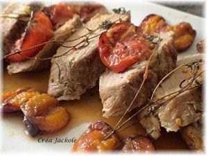 Recette Filet mignon de porc aux quetsches