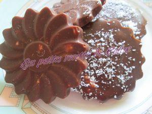 Recette Marguerite de chocolat, chamallow et betises de Cambrai