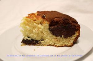 Recette Gâteau à la crème fouettée et à la pâte à tartiner