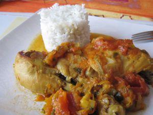 Recette Cuisses de poulet aux petits légumes