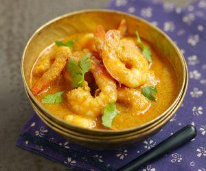 Recette Curry rouge de crevettes et quinoa
