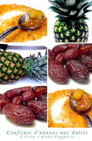 Recette Confiture d'ananas aux dattes
