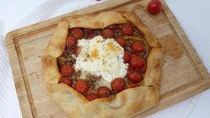 Recette Tarte tomates et burrata