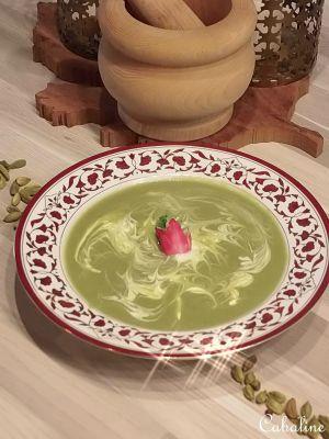 Recette Crème de radis roses, épinards et graines de Cardamome