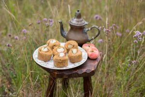Recette Muffins aux pêches et romarin