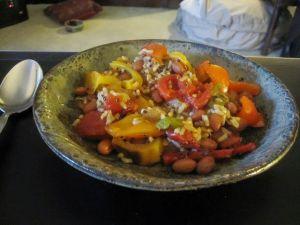 Recette Ragoût de quinoa aux légumes (courge, maïs, haricots noirs..), vegan, sans gluten